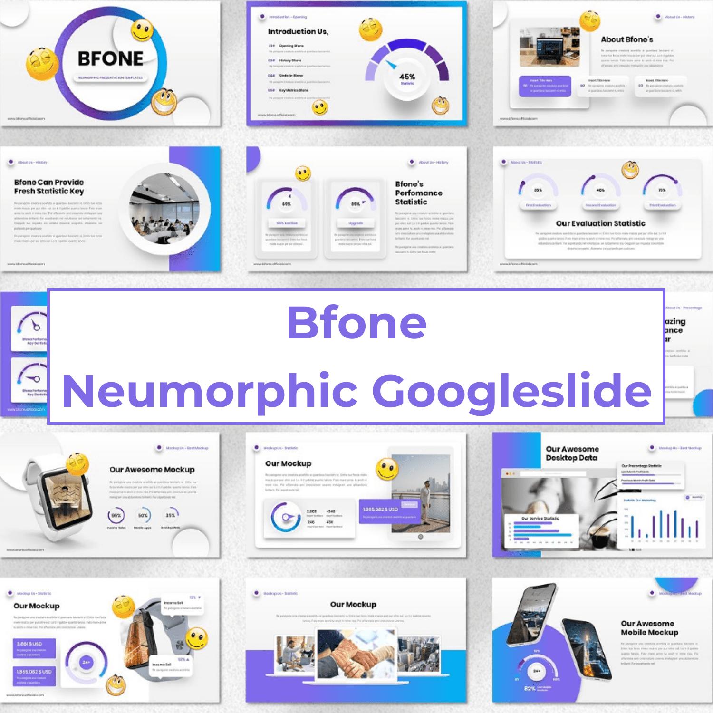 Bfone - Neumorphic Googleslide cover image.
