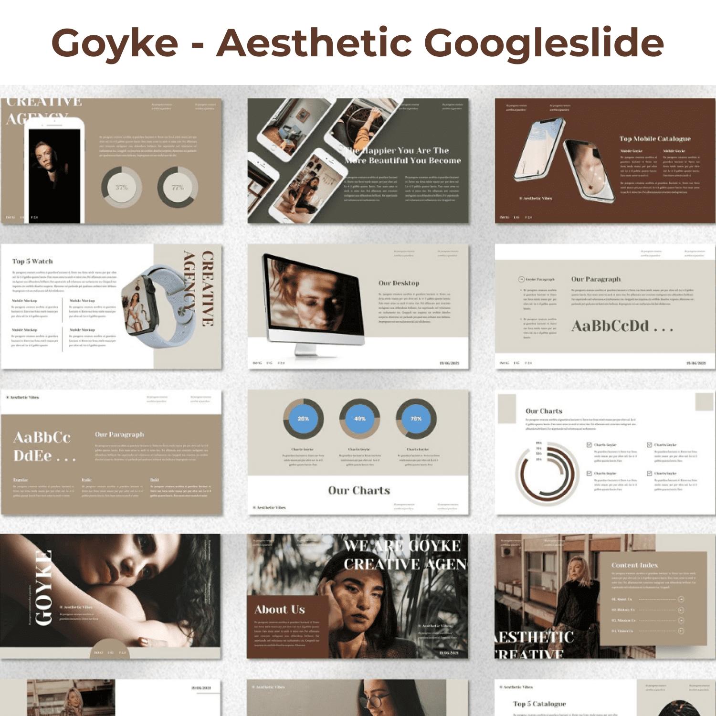 Goyke - Aesthetic Googleslide cover image.