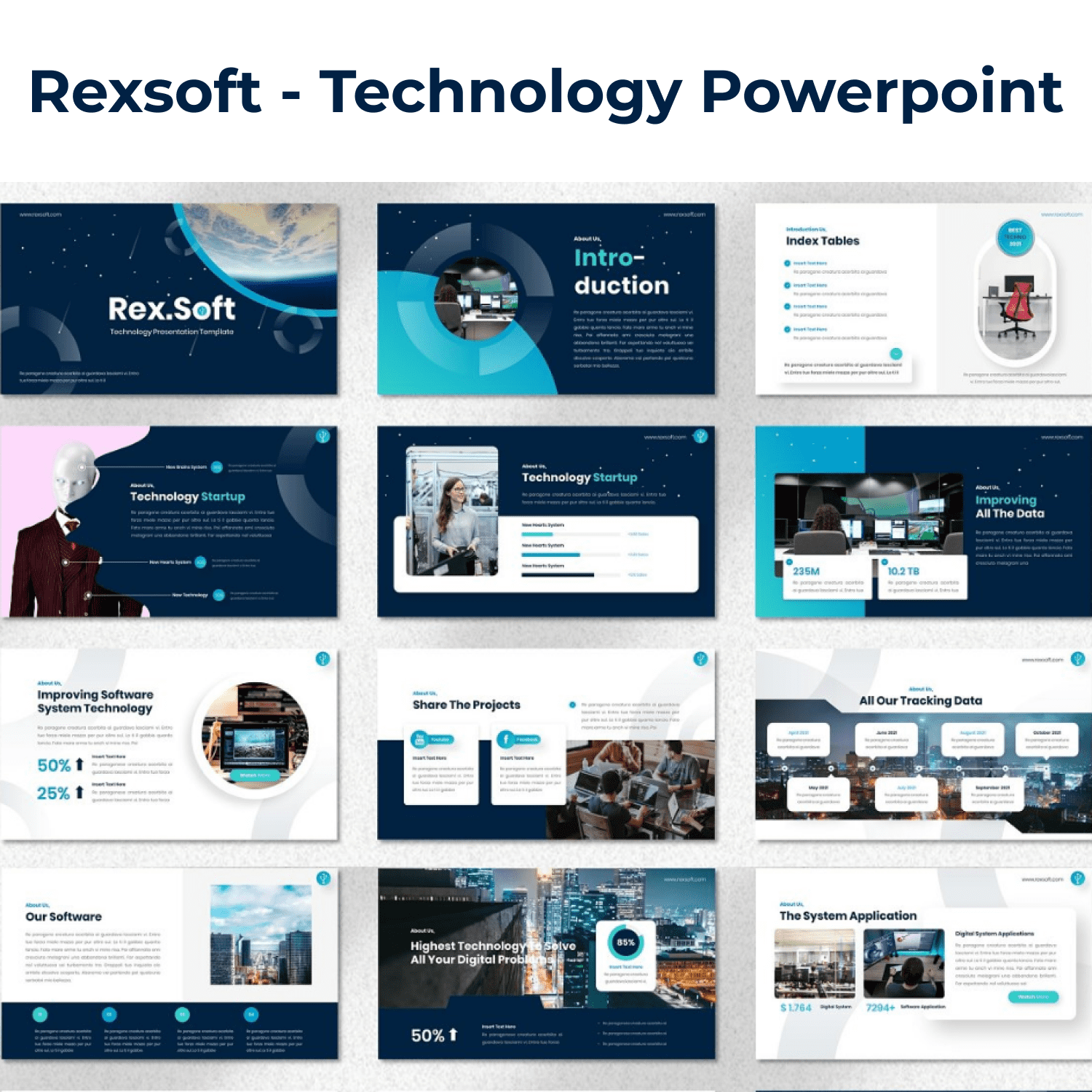 Rexsoft - Technology Powerpoint cover image.
