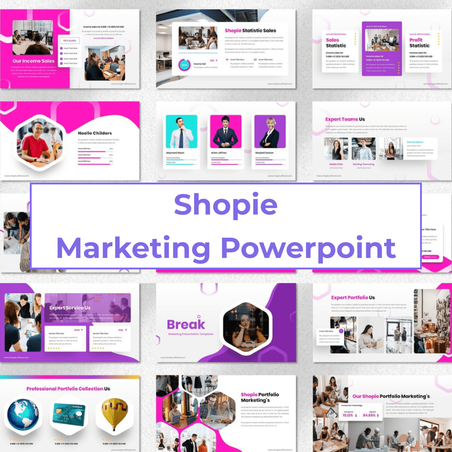 Shopie - Marketing Powerpoint cover image.