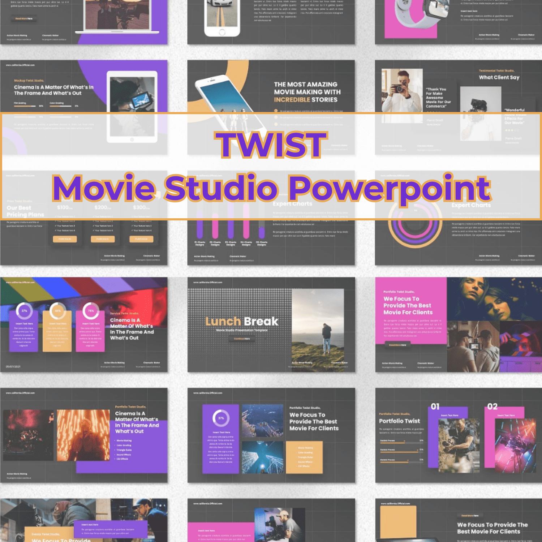 Twist - Movie Studio Powerpoint cover image.