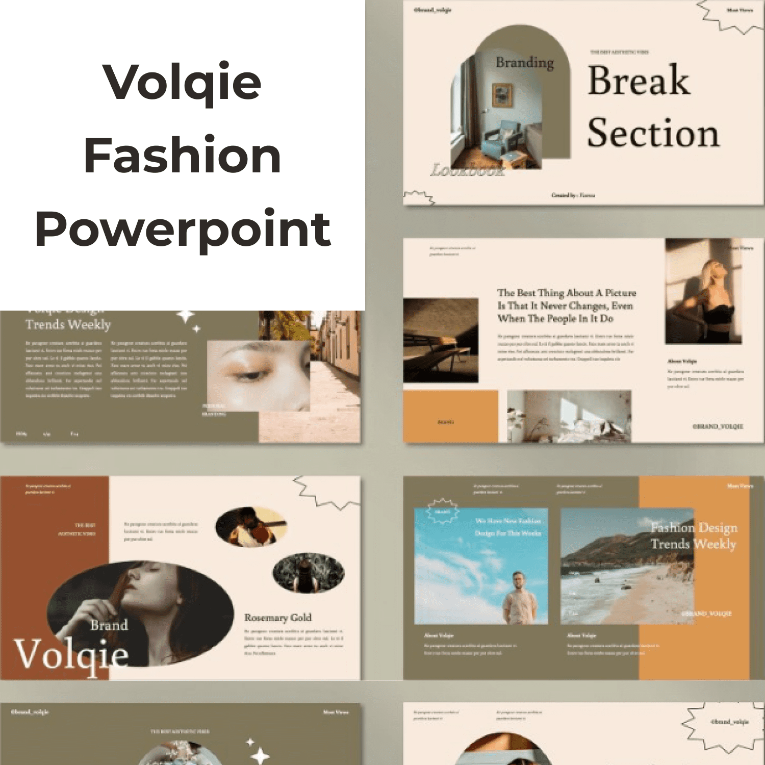 Volqie - Fashion Powerpoint cover image.