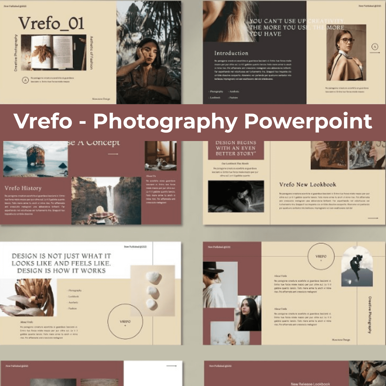 Vrefo - Photography Powerpoint cover image.
