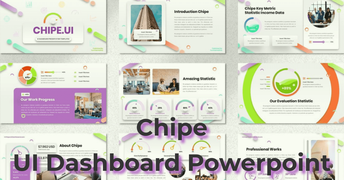Colorful template for creative presentations.
