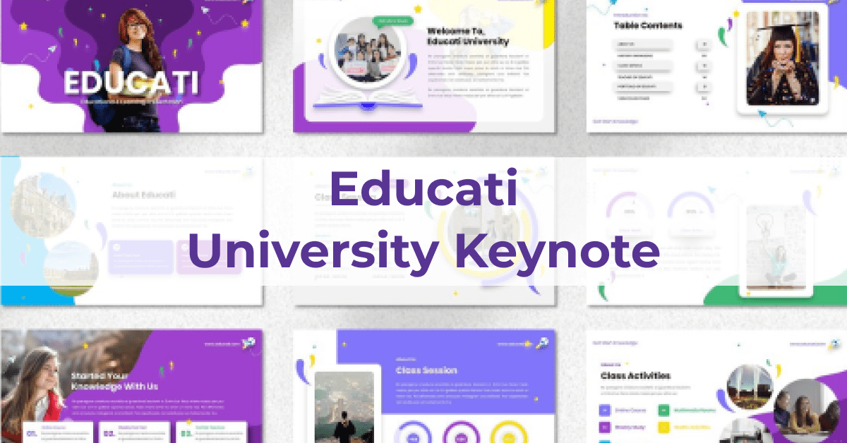 Multi-colored template for interesting and informative topics.