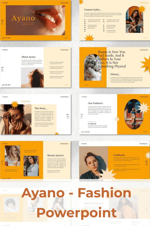 Vivid template with orange elements.