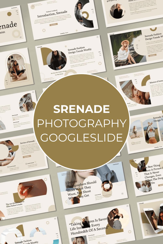 Second option of the Srenade template for Pinterest.