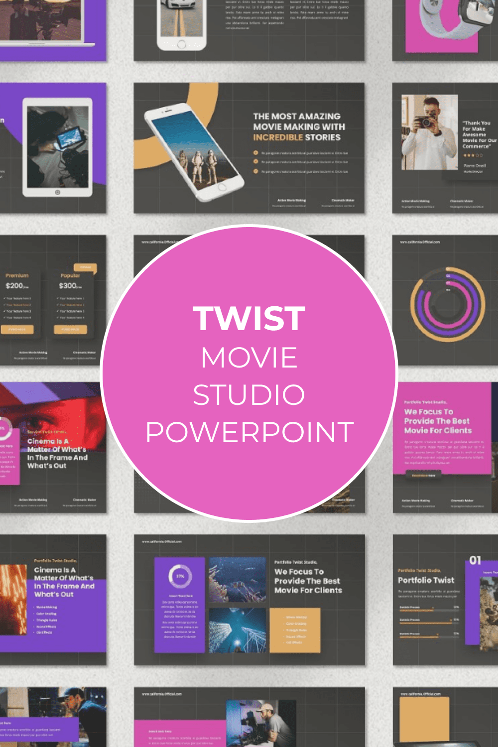 Second option of the Twist template for Pinterest.