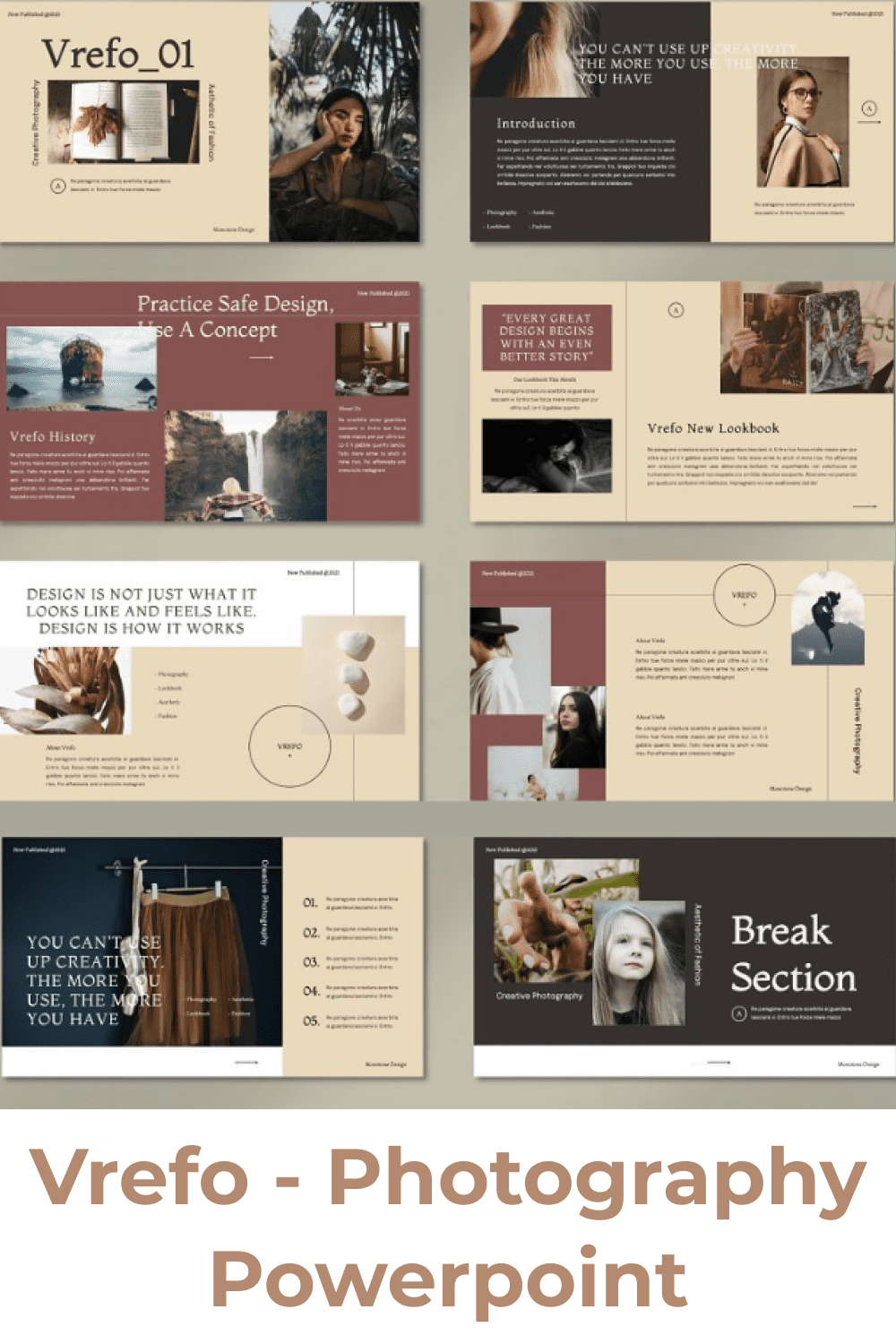 This is an aesthetic template in a soft color.