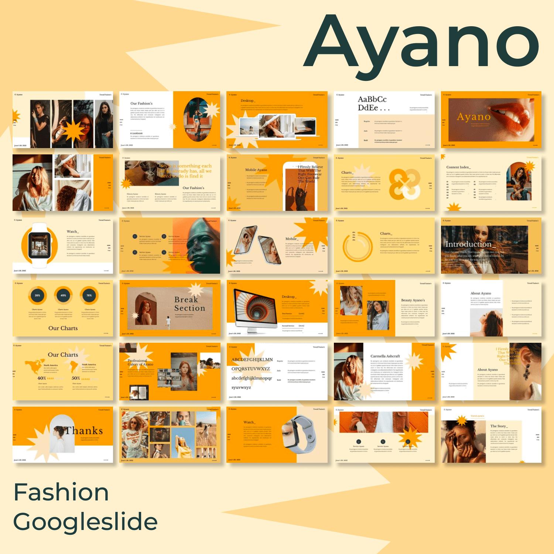 Ayano - Fashion Googleslide main cover.