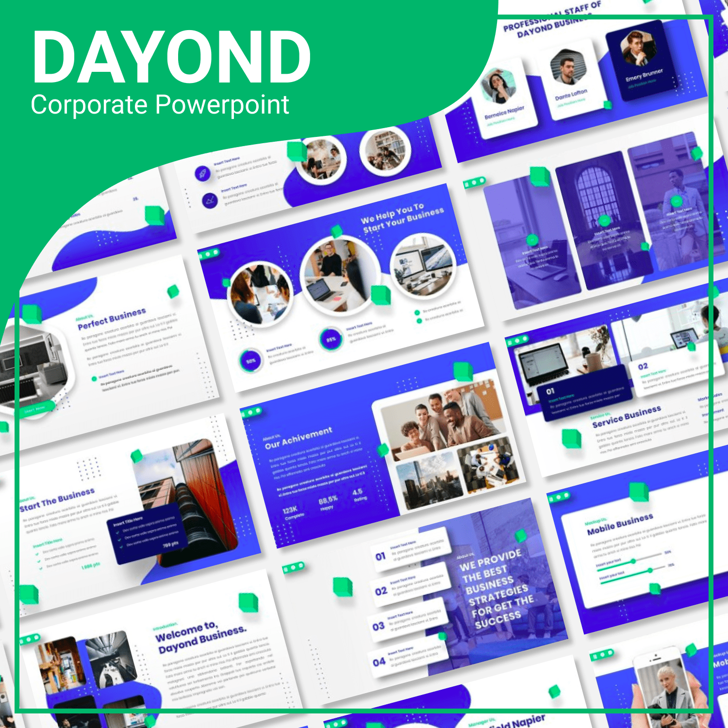 Dayond Corporate Powerpoint main cover.