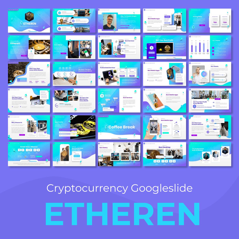 Etheren - Cryptocurrency Googleslide main cover.