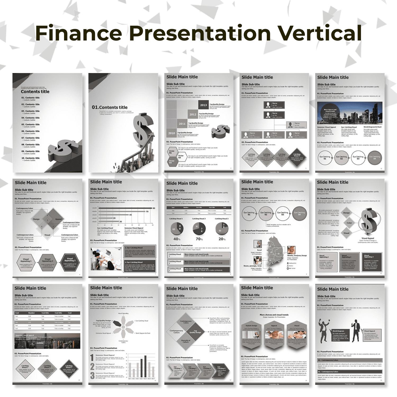 Finance Presentation Vertical main cover.