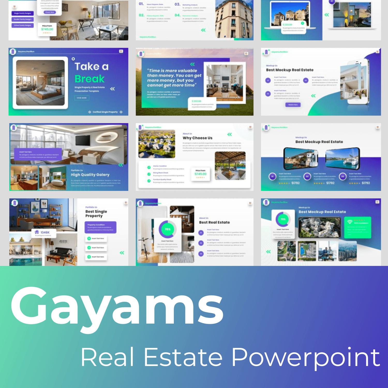 Gayams - Real Estate Powerpoint main cover.