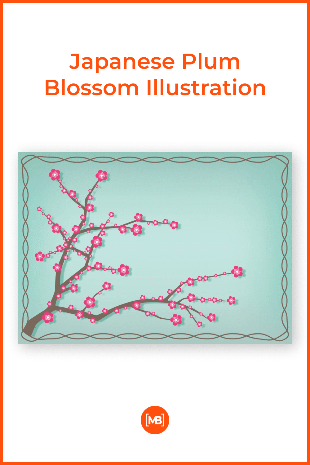 Cute and delicate Japanese plum.