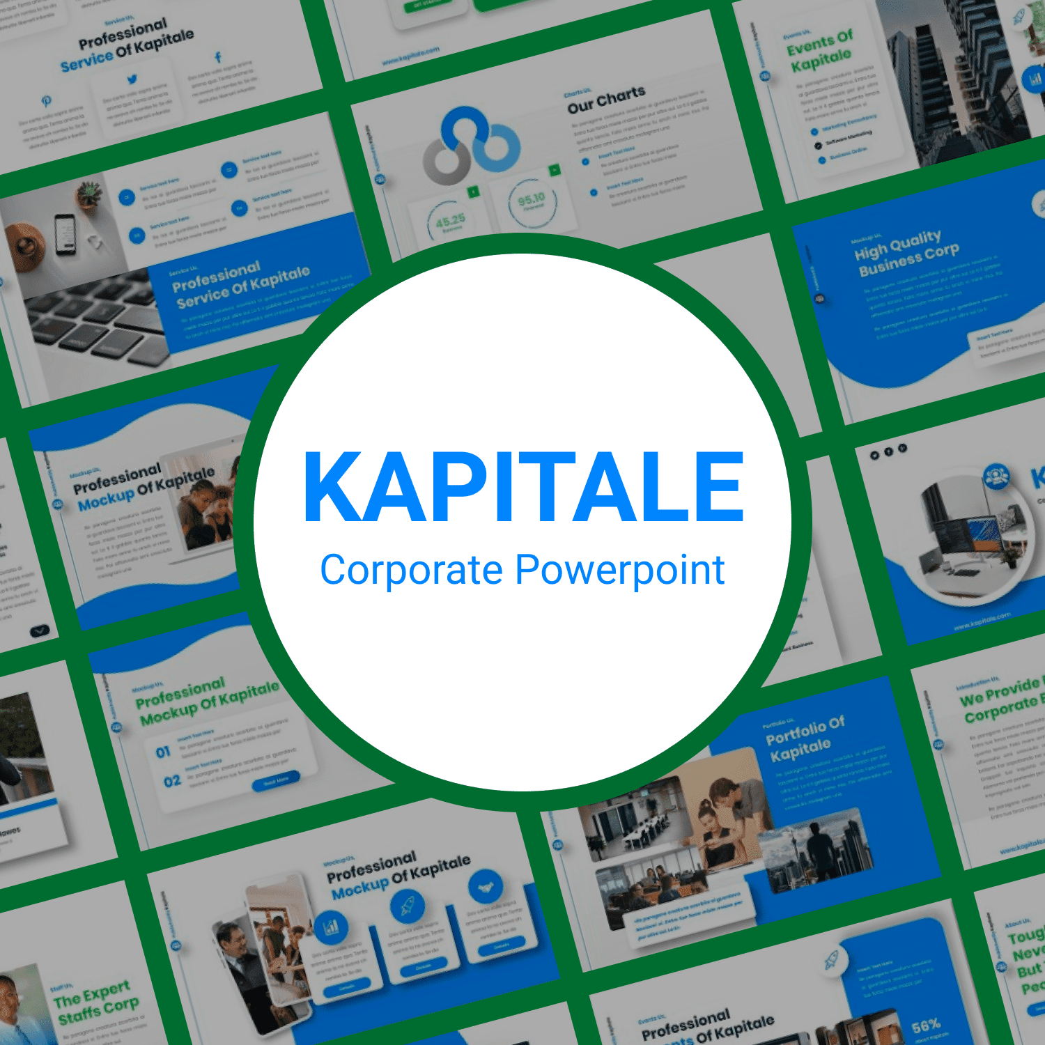 Kapitale Corporate Powerpoint main cover.