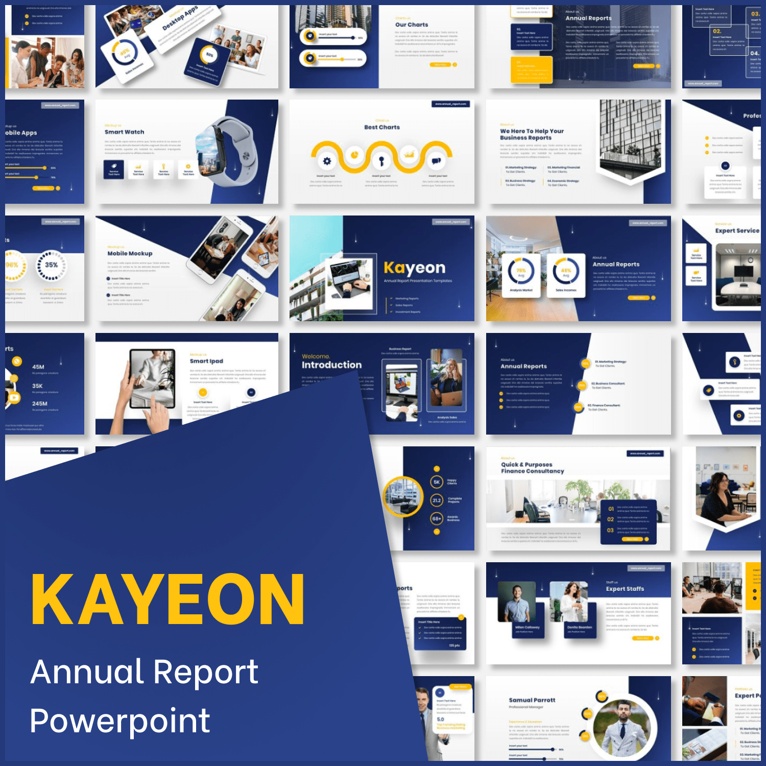 Kayeon - Annual Report Powerpoint main cover.