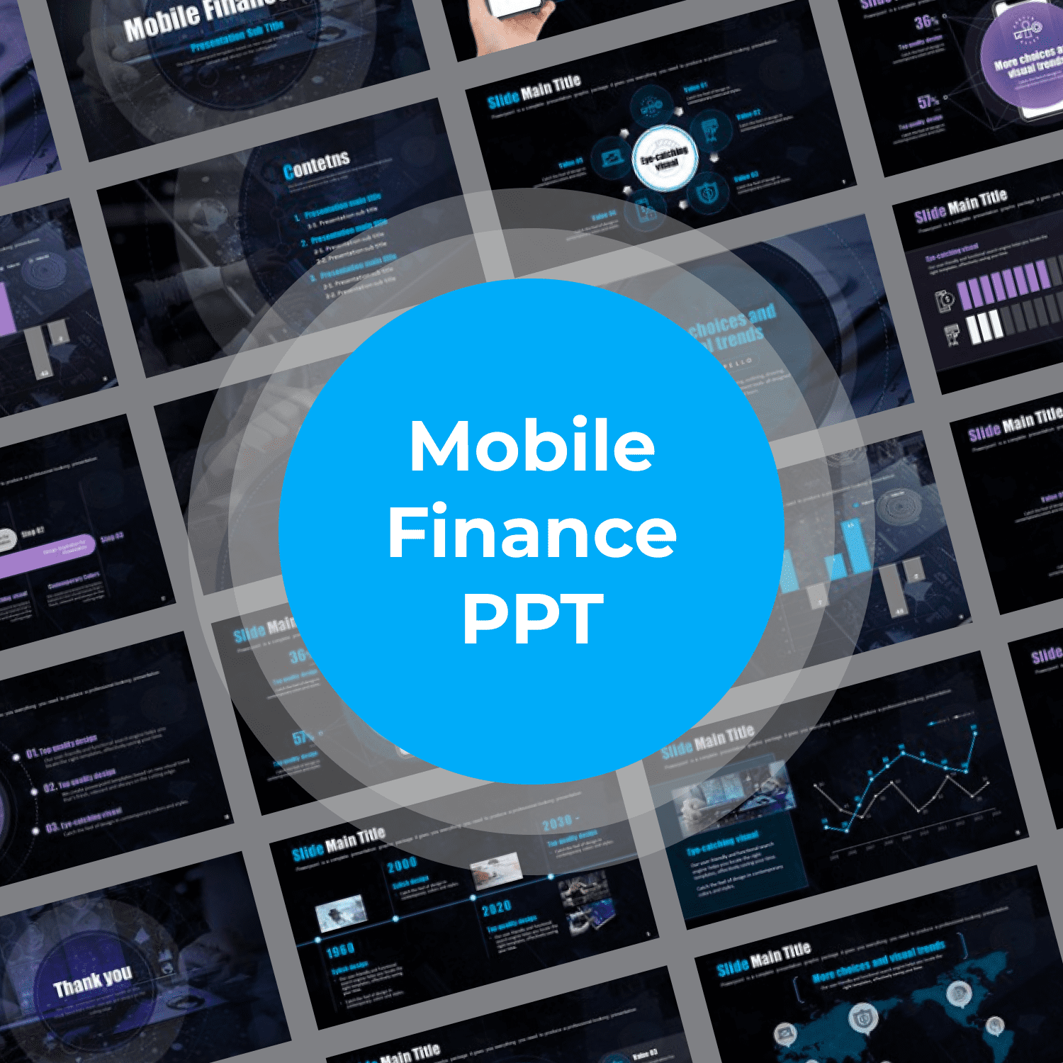 Mobile Finance PPT main cover.
