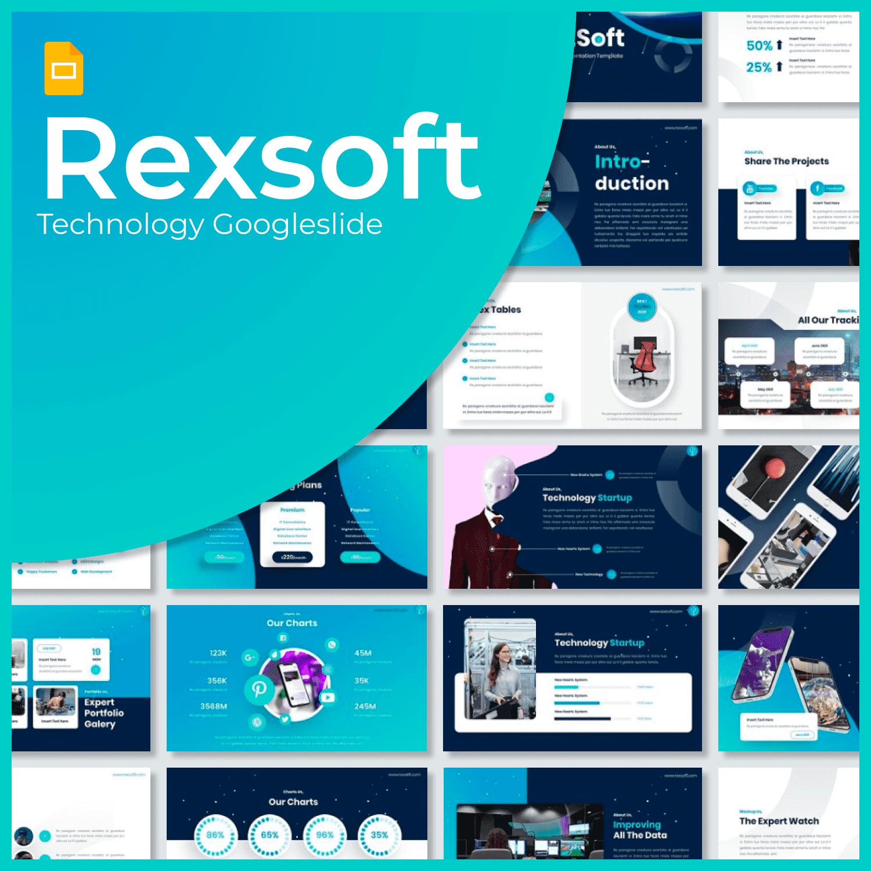 Rexsoft - Technology Googleslide main cover.