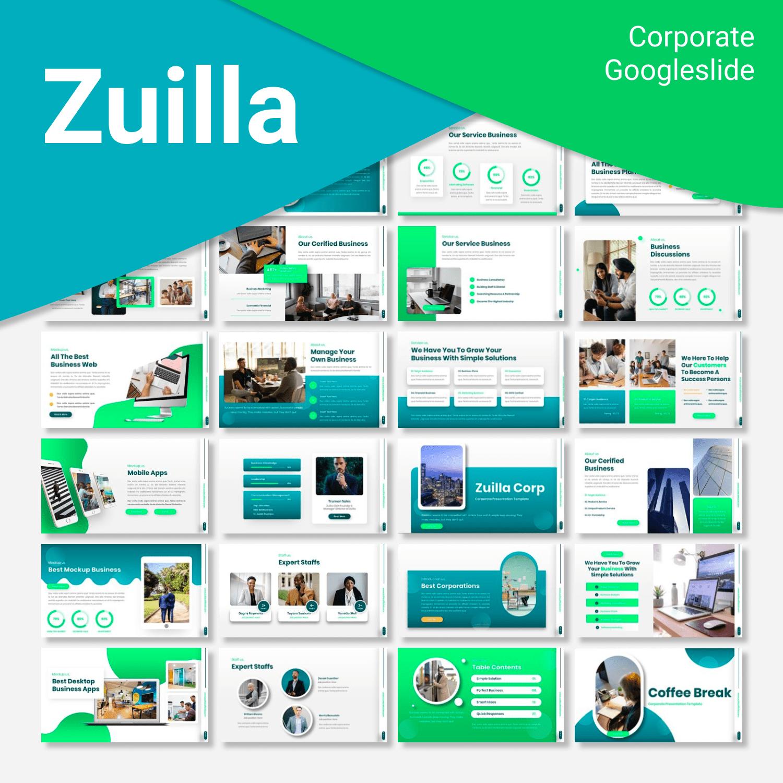 Zuilla Corporate Googleslide main cover.