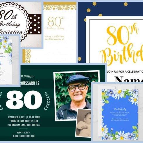 Best 80th Birthday Invitations Example