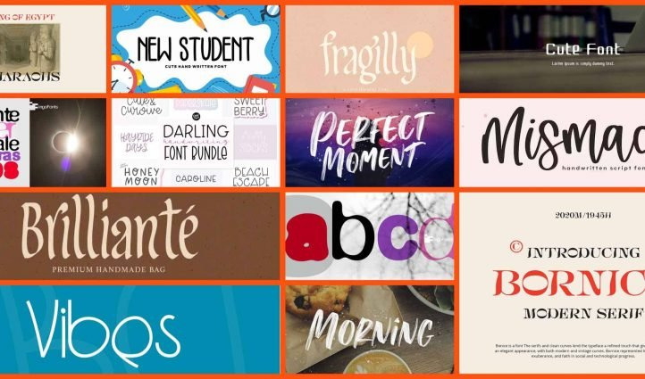 10 Best Cute Fonts for Android Example.