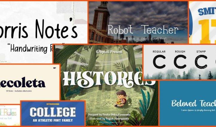 Best Fonts for Teacher Example.