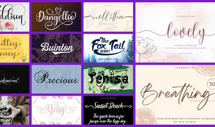 10 Best Fonts with Tails Example.