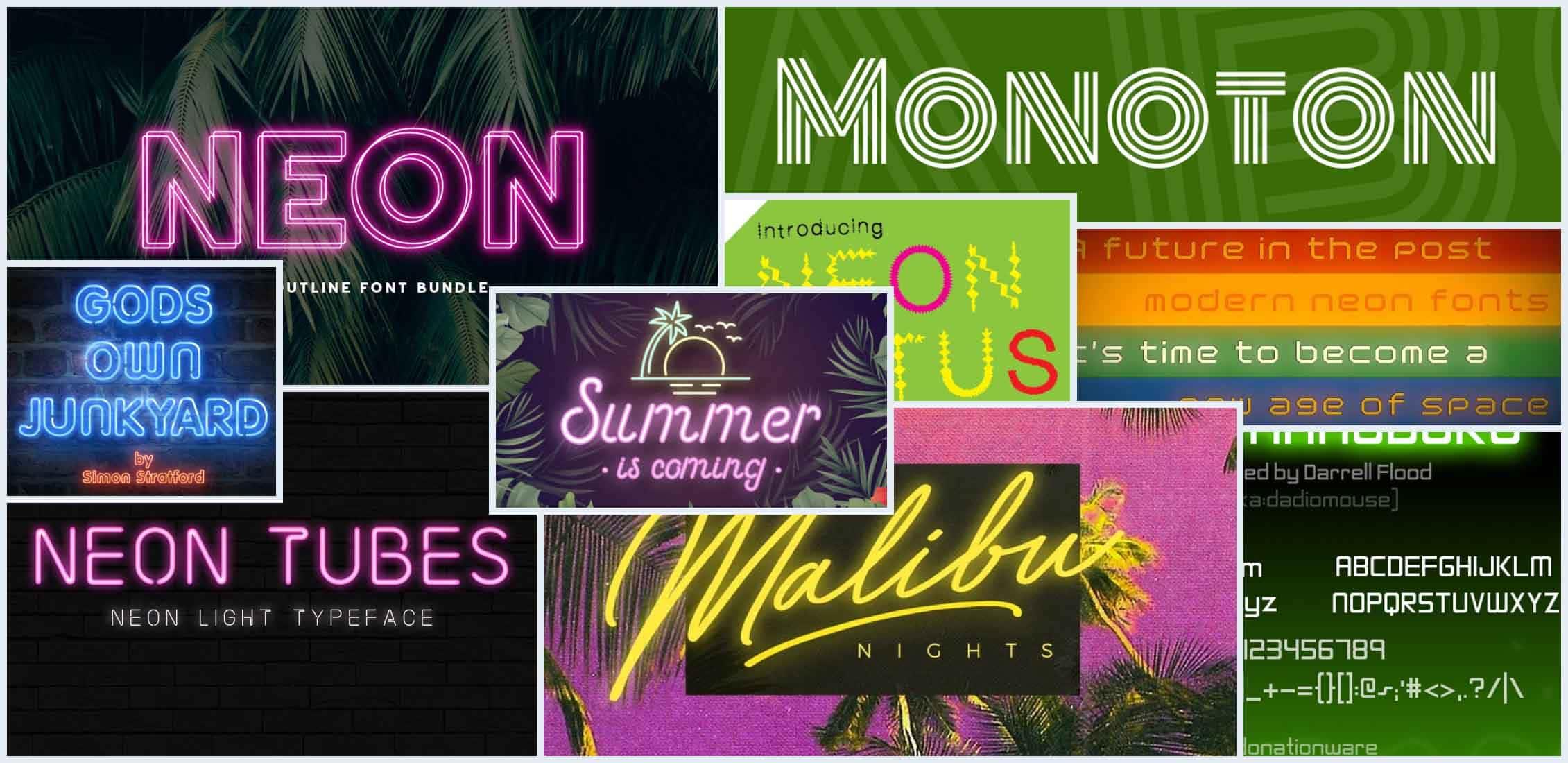 Best Neon Fonts Example.