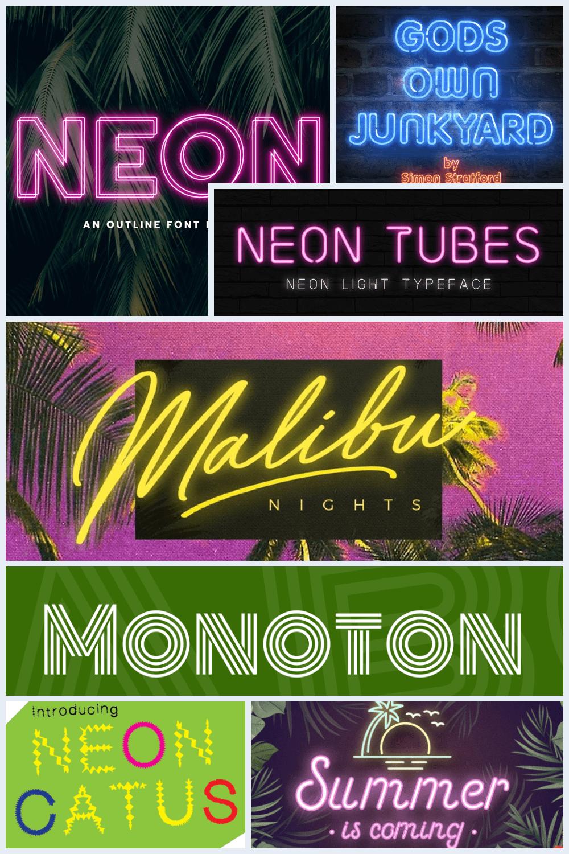 Neon Fonts Pinterest.