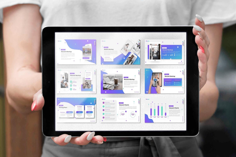 Tablet option of the Neucart - Marketing Googleslide.