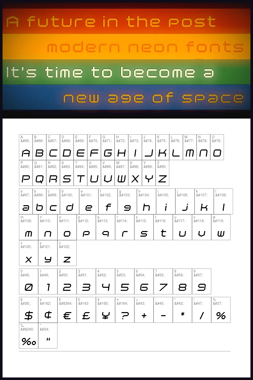 A computer-style font from the 2000s.