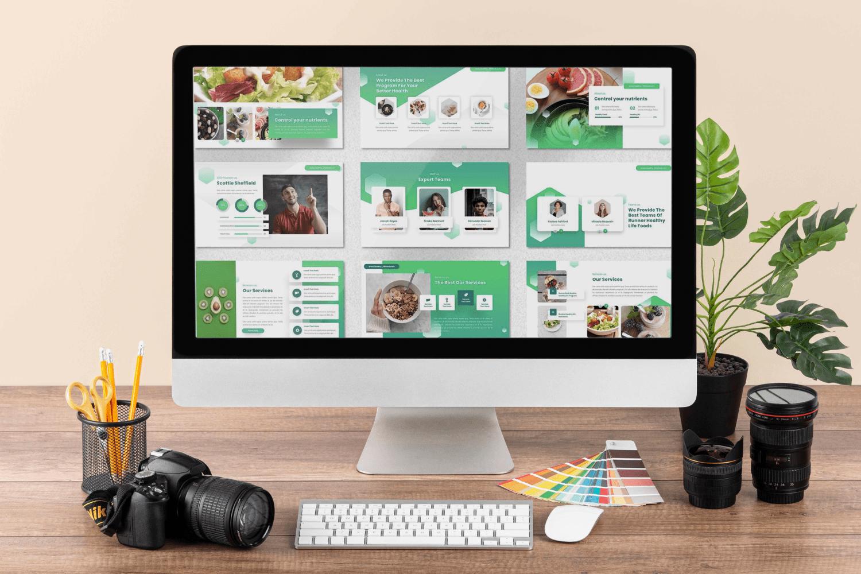 Desktop option of the Runne - Healthy Life Powerpoint.