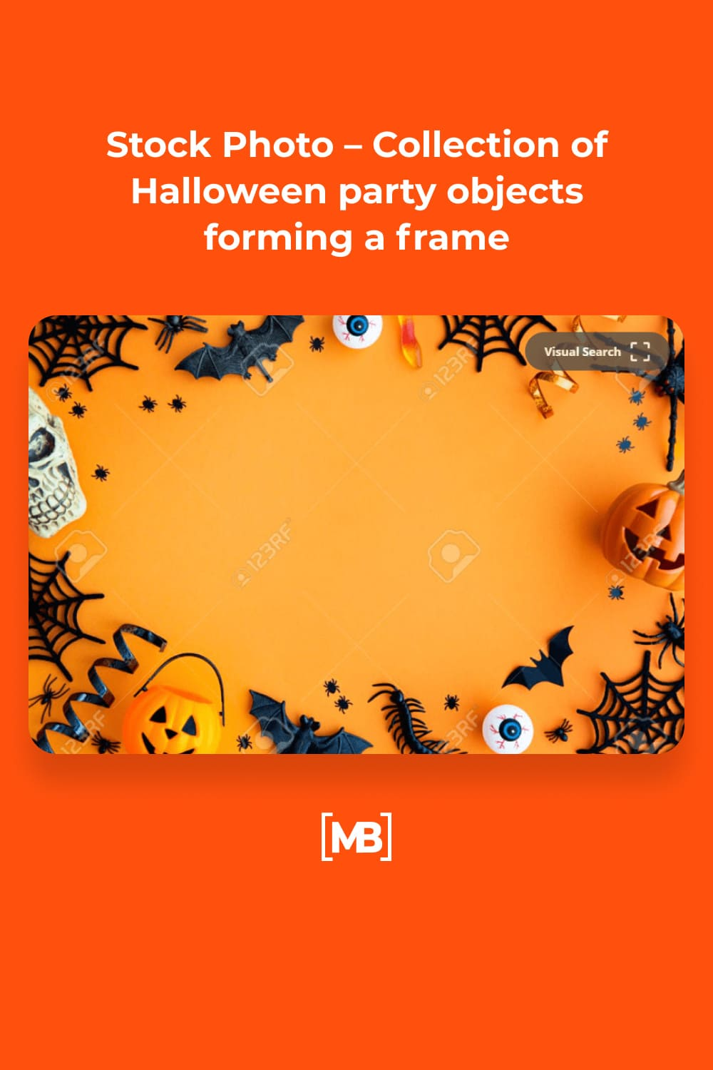 10 Stock Photo – Collection of Halloween party objects forming a frame
