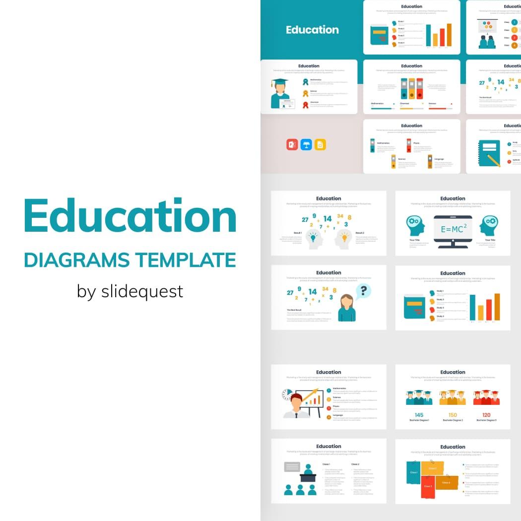 Education Diagrams Template main cover.
