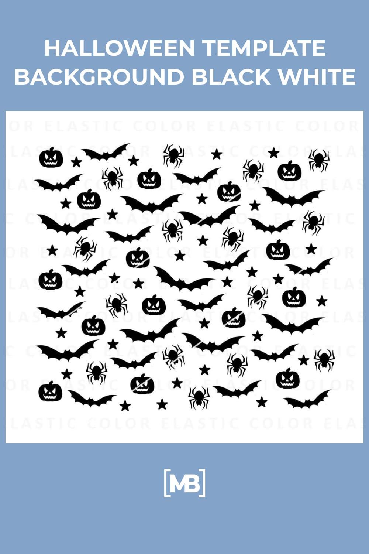 11 Halloween Template Background Black White