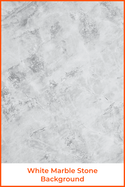 White marble stone background.