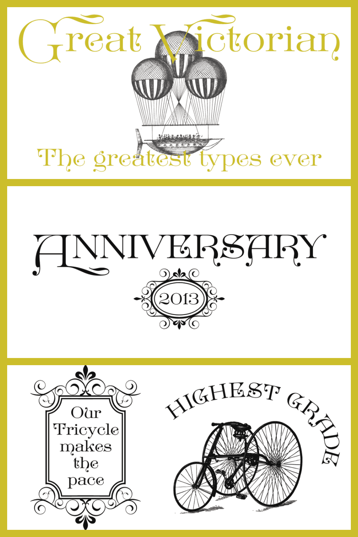 Thin and cursive victorian font.