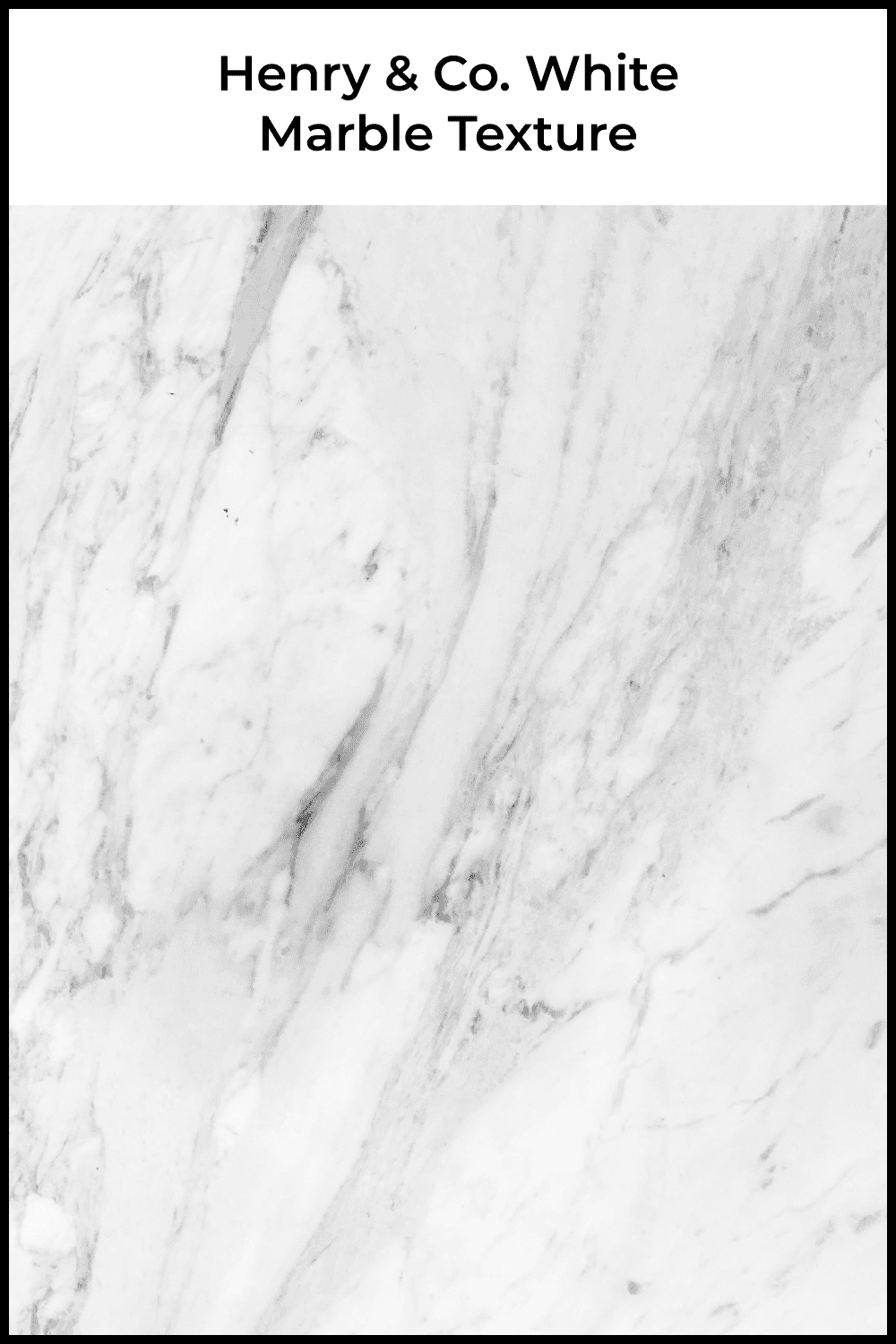 Henry & Co. white marble texture.