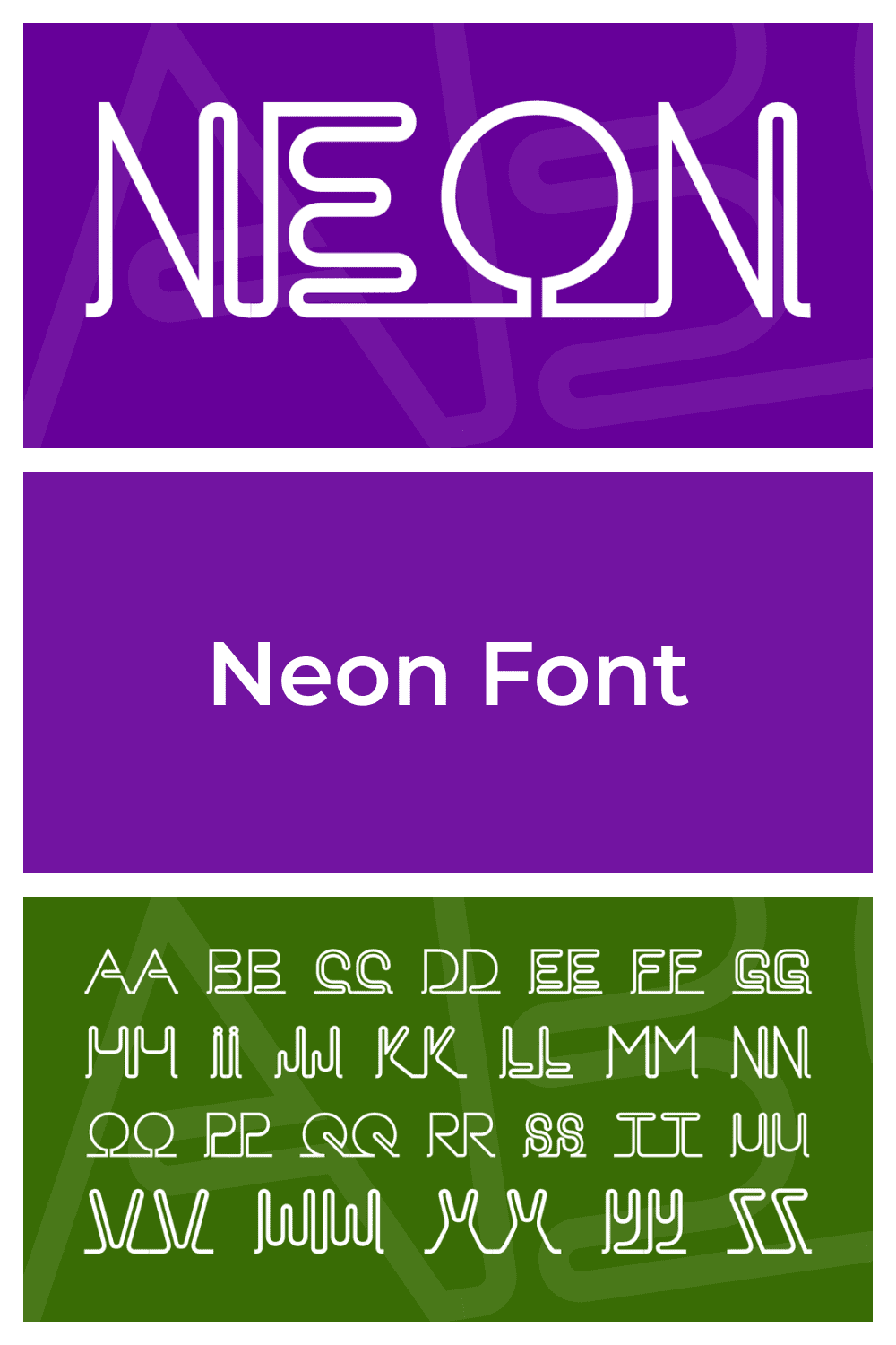 A creative font with unusual shapes.
