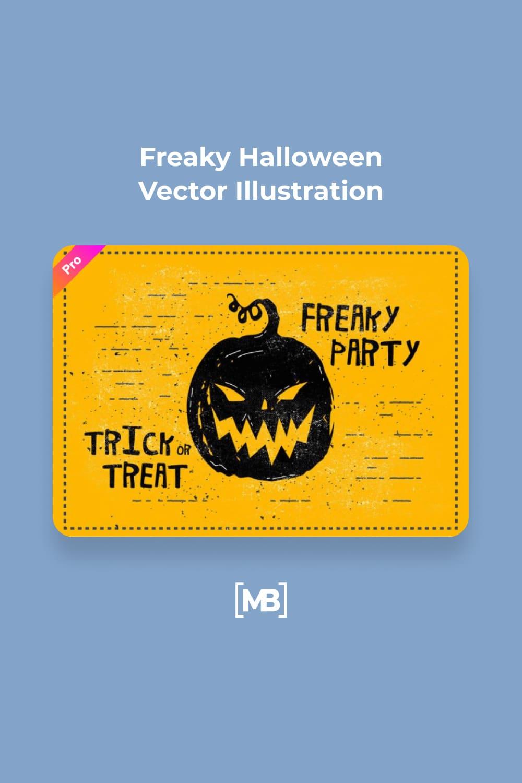13 Freaky Halloween Vector Illustration