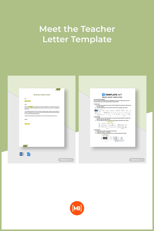 Meet the teacher letter template.
