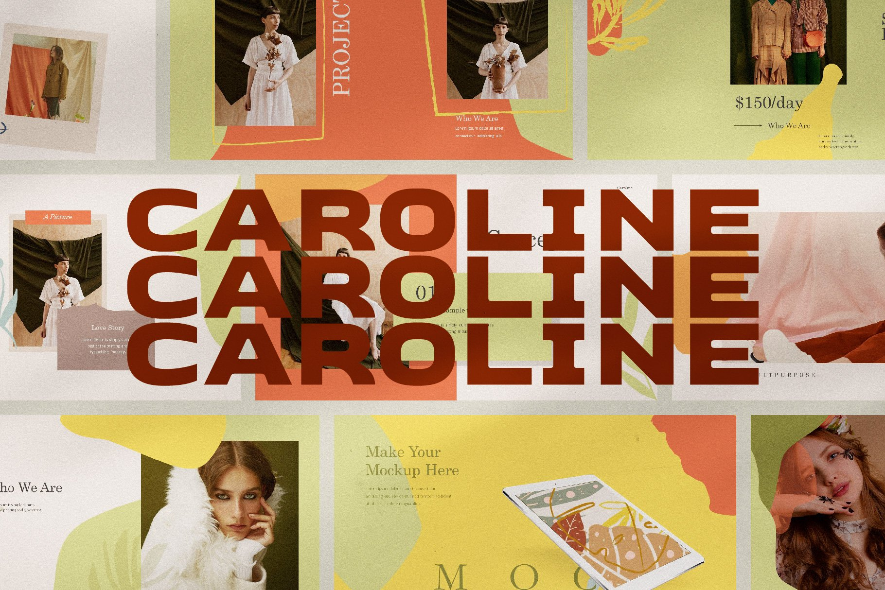 Caroline template is about delicate and style.