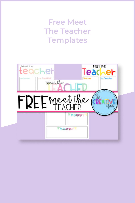 Free meet the teacher templates.
