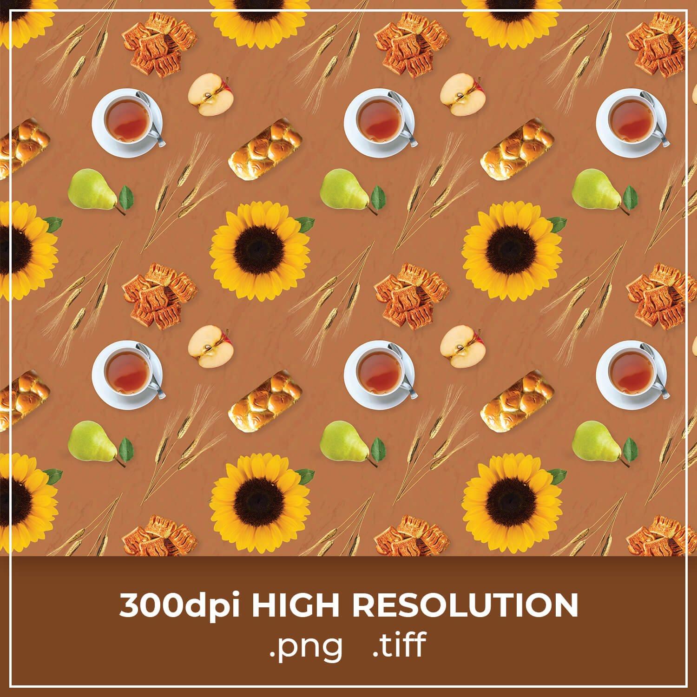 Free Autumn Tea Thanksgiving Pattern cover image.