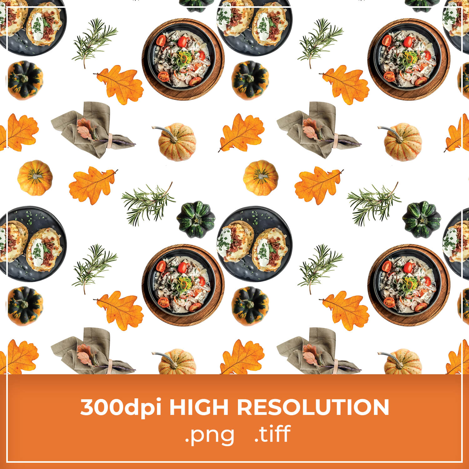 Free Thanksgiving Dinner Pattern cover image.