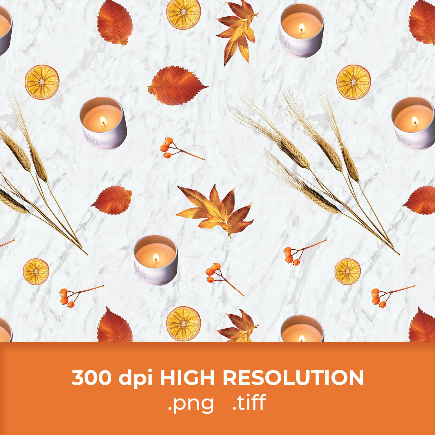 Free Thanksgiving Candle Pattern cover image.