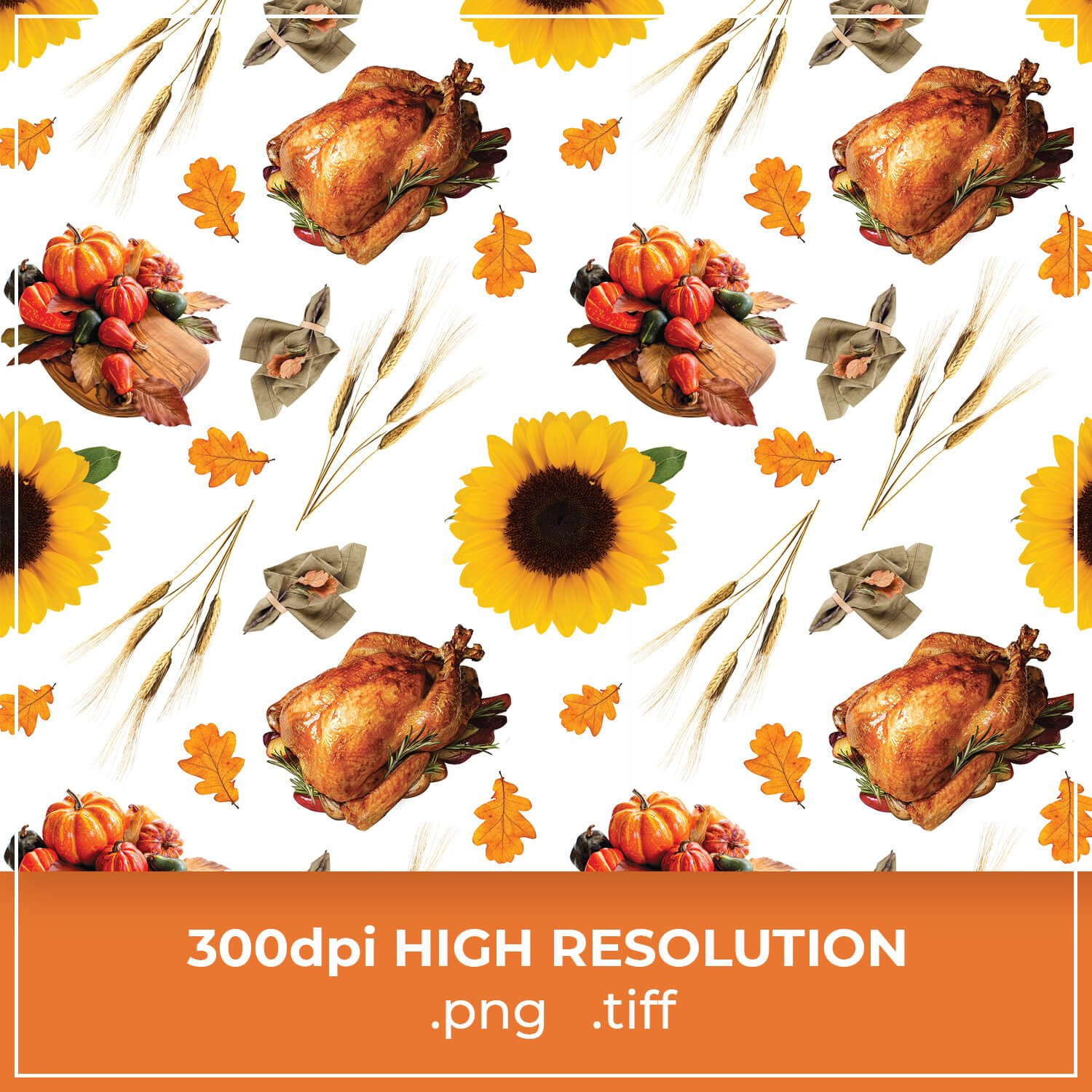 Free Happy Thanksgiving Pattern cover image.
