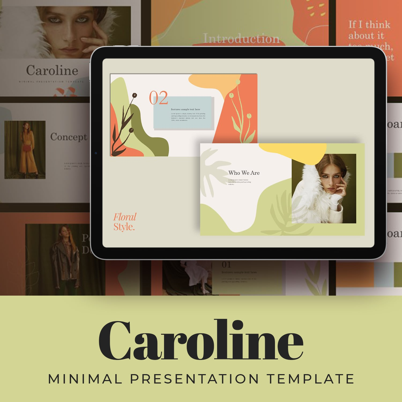 Caroline Googleslide Template main cover.