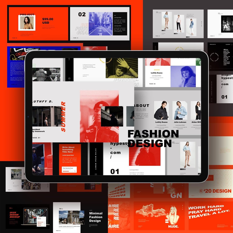 Fashion Design Keynote Template main cover.